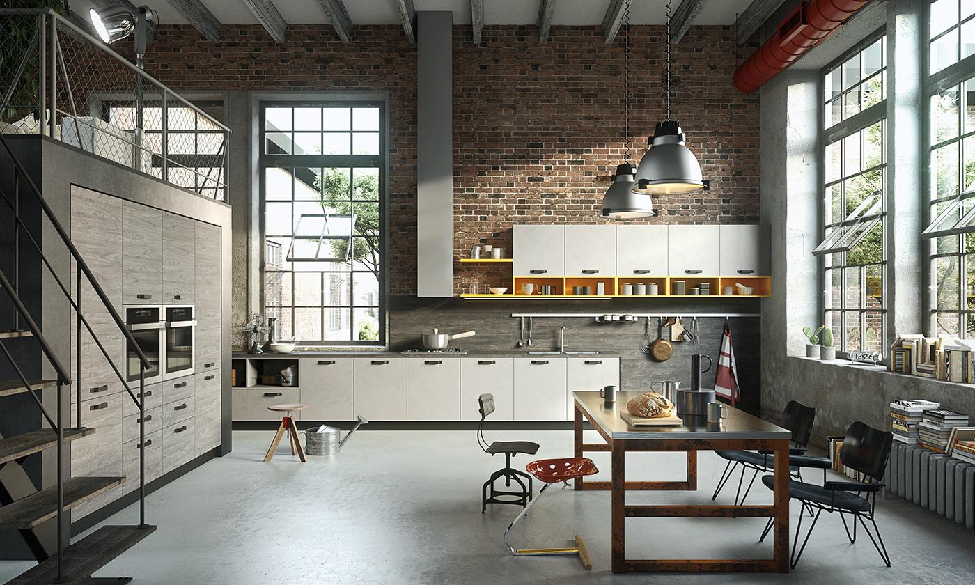 Cucina moderna oslo ante e finiture in rovere gicinque - Cucine gicinque ...