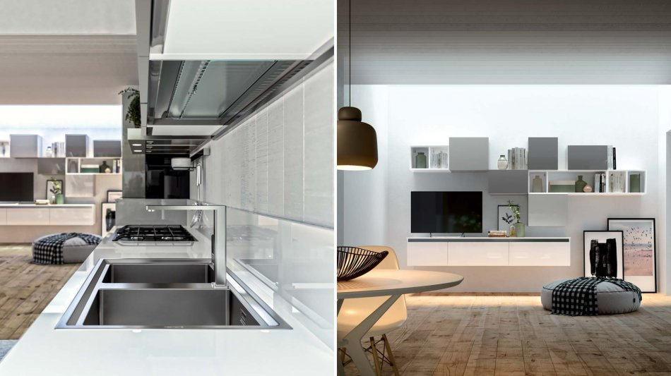 THE KITCHEN BECOMES LIVING