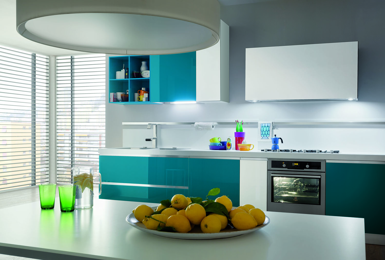 Cucina moderna myglass ante in gres e vetro gicinque - Colorare ante cucina ...