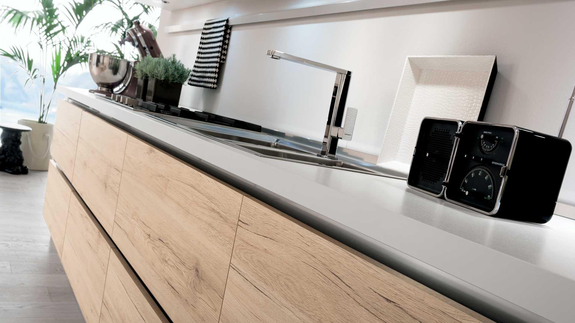 Cucina moderna oslo ante e finiture in rovere gicinque - Cucine in rovere ...