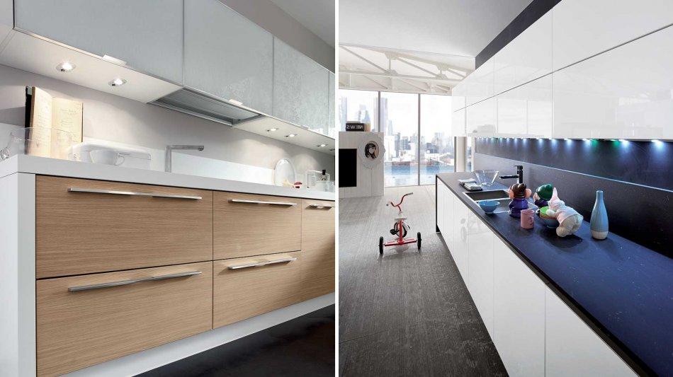 Cucina Moderna Slim: Ante in Vetro e Legno - Gicinque