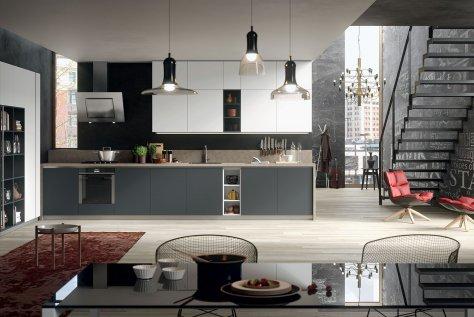Grigio Bromo e Nero: Cucina Moderna De.Sign - Gicinque