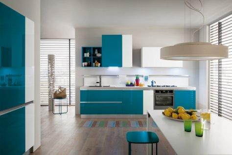Cucina moderna myglass ante in gres e vetro gicinque - Ante cucina in vetro ...