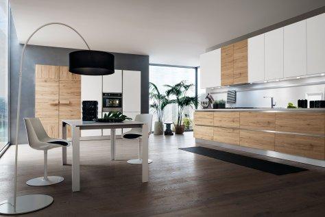 Rovere Aspen di Oslo: Cucina Moderna in Rovere Bianco