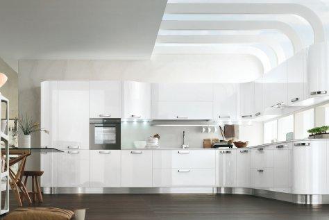 Cucina Moderna in Laccato Bianco Lucido – Kristal