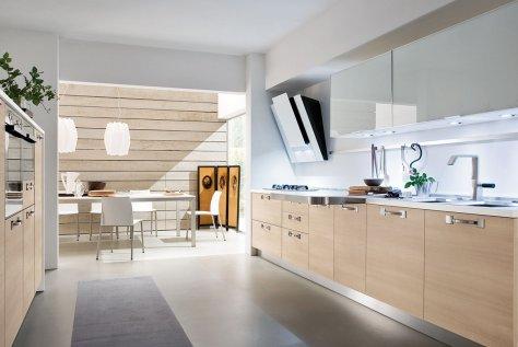 Joy Rovere Corteccia: Cucina Moderna in Rovere e Vetro